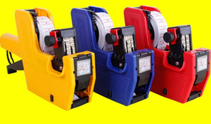New MX-5500 8 Digits EOS Price Tag Gun +500 White w Red Lines Labels +1 Ink Handheld Price Labeller Tag Gun Random Color