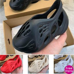 2020 Summer Beach slipper foam runner Luxary hole Slides Bone Brand sandal Children shoes boy girl youth kid size 24-35