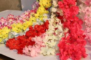 Yapay Çiçek Rhododendron Vine Rattan Plastik Çiçek Düğün Çiçek Decroration Mutfak Bahçe Partisi Feastival Açık Asma