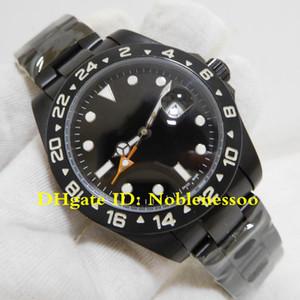 3 Цвет Topselling Часы Мужской 42 мм Explorer II 216570 Пользовательские PVD / DLC Черная отделка Стальная Азия 2813 Движение Автоматические мужские часы