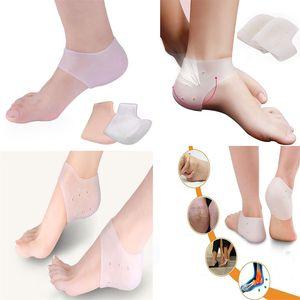 Мягкие силиконовые ножки для ног Защитные носки для ухода за пяткой, предотвращают сухую кожу против пилинга Моющийся увлажняющий гель Protector ногой ДА413