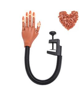 Professional 1 Practice Mão com unhas Falso Dicas Nail Art Mãos Ferramenta ajustável Art Nail Mãos Modelo DIY Manicure Ferramenta Para Beginner Training