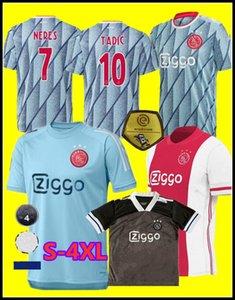 20 21 Ajax Retro-Fußballjerseys # 21 DE JONG Hemd ajax 2020 2021 # 10 TADIC # 4 DE LIGT # 22 ZIYECH Männer Fußball-Uniformen