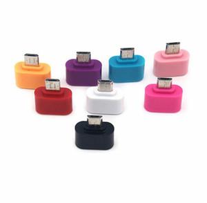 Android Telefonlar Samsung Huawei Tabletler için USB 2.0 OTG Adaptör Converter renkli Mini Mikro USB