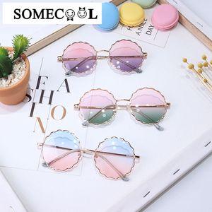 2020 New Spring modello bambini occhiali da sole rotondi del fiore dell'annata freddo a forma di occhiali UV400 bambino boysgirls occhiali da bambino N460