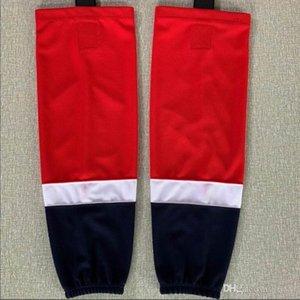 Neue Trainingssocken 100% Polyester Praxis Socken Socken Eishockey-rot Hockey-Ausrüstung