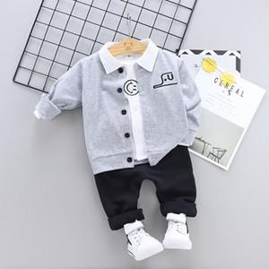 2019 Baby Kids Причинно мальчиков спортивный костюм Детская одежда Корейский новый детский весенний детский весна 1-4 лет хлопок детская одежда