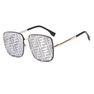Fashion Square Gold Frame солнцезащитные очки Классические F Письма Pattern Солнцезащитные очки Мужчины и Женщины Daily Sport Driving Бич очки