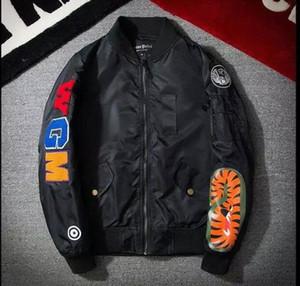 MA1 Bomberjacke Shark Print Herrenjacke Stehkragen Mode Outwear Herbst Männer Mantel Bombe Paar Baseball Jacken