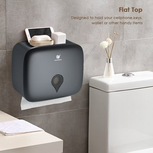 No Drilling Wall Mounted C-fold Hand Towel Dispenser Waterproof Toilet Paper Tissue Dispenser Holder Tissue Box for Hotel Food