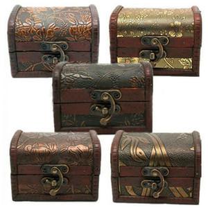 New Bijoux Vintage Collier de perles Bracelet de stockage organisateur Boîte en bois Case cadeau Jewerly Boîte de rangement