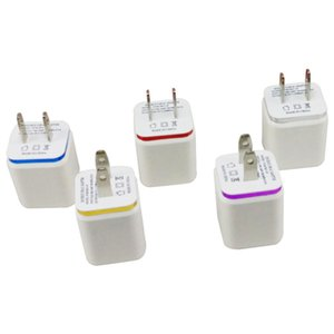 US plug Adapter 2.1 1A 5V Dual USB Wall Charger AC Mobile phone charger for Samsung all mobile phone charger J25