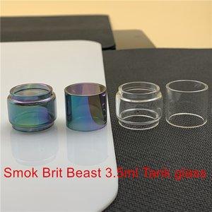 Smok Brit Bestia 3,5 ml lampadina serbatoio rimontaggio di vetro del tubo Fatboy 6ml Bubble convesso normale vetro libero Arcobaleno