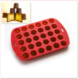 Экологичный силикона высокого качества Стандарты Резинотехнические 30 Мини цветы Canneles выпекание Diy Cake Mold Cupcake Выпечка
