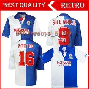 1994 95 Blackburn retrò shirt casa Shearer 9 Blackburn Rovers retrò del calcio Jersey 94 95 Blackburn Retro Sutton 16 RIPLEY 7 Jersey