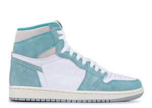 Box ile turbo yeşil 1s TOP Fabrikası Sürüm 1 Basketbol Ayakkabı erkek eğitmenler Yeni 2019 Gerçek Deri Spor ayakkabılar