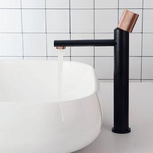 Накатка ручка ванной раковина кран твердый латунный кран бассейна холодной и горячей воды смеситель палуба установлен черный / матовый золотой / серый