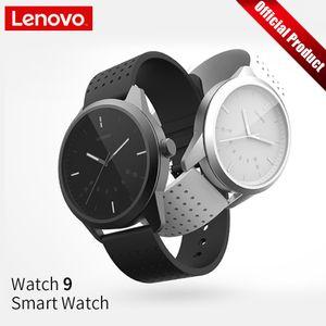 Lenovo intelligente della vigilanza di modo 9 Vetro Zaffiro Smartwatch 50m impermeabile Monitoraggio della frequenza cardiaca mostra le informazioni Ricordando J190523