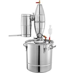 60L Destilliertes Wasser Reines Tau Brandy Whiskey Ätherisches Öl Distiller Stainless Bier Wein Alkohol Making Home Brew Kit Mondenschein-Boiler