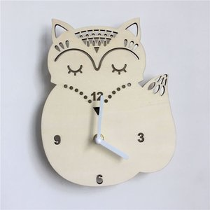 Owl Pineapple Wooden Wall Clock Home Furnishing Mute Watches for Living Room Bedroom Bar Decor Children Gifts Wall Watches 1 PC