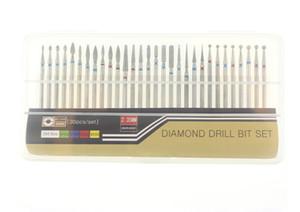 30pc / set Juego de brocas de diamante para esmerilado para accesorios de máquinas de manicura eléctrica Nail Art Kits de herramientas limpias para rebabas