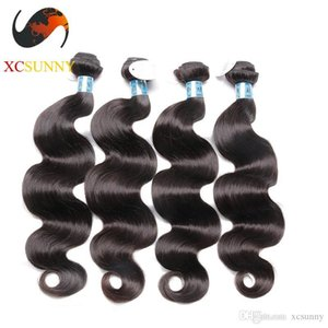 Wholesale Mix Length 4pcs-12-26 Inch Deluxe Body Wave 100% Peruvian Virgin Hair Weave Remy Human Hair Weft 100g pcs