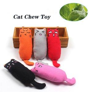 Gato hierba gatera juguetes para gatos Juguete del Chew del gato que juega para los dientes de mascar de limpieza creativo almohada rascar los dientes del animal doméstico hierba gatera molienda juguetes para masticar