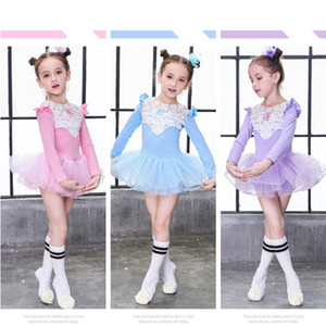 Girls Baby's Lace Ballet dancewear Costume chidren's ballet Tutu Skirt Kids Party Leotards Dance Dress Girls Baby's Ballet dancewear Costume