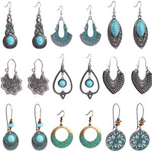 Retro Ohrringe Boho Ethnic Art-Höhle europäischen und amerikanischen Temperament einfache Ohrringe Partei-Bevorzugung Geschenk der Mutter Tages XD23093