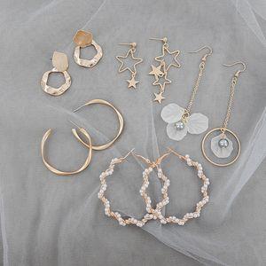 Lostsoul neue koreanische Perlen Wrap Around C-förmige Ohrringe, die sich stilvoll Retro Eine Vielzahl von Arten Female Geschenke