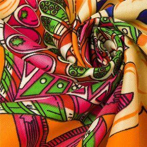 Primavera e Outono Feminino Satin Scarf, Big Square impressa lenços, Mulheres Scarf, roxo Polyester Silk Scarf Shawl 100 * 100 centímetros Scarv Marca Designer