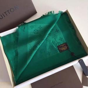 las mujeres de la marca de moda bufanda de la cachemira de la letra de seda de lanaLVbufanda bufandas de las señoras Tamaño 140x140cm