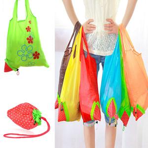 Клубника Складная сумка многоразовые эко - сумки Сумка для хранения клубника складной складной тотализатор случайный цвет