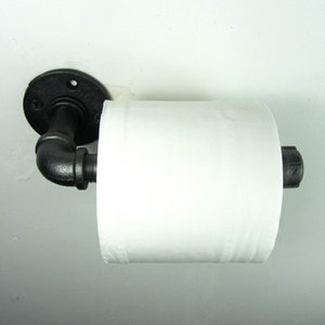 Endüstriyel Retro Kentsel Rustik Demir Boru Duvara Monte Tuvalet Kağıdı Tutucu Rulo Restoran Bar Tuvalet Banyo Dekorasyon T190711