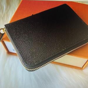 M60067 ZIPPY MONNAIE Mode Cuir Femmes court Zipper Wallet Porte-monnaie carte Compact monnaie Porte-poche Pochette Zip Portefeuilles Pochette 60067