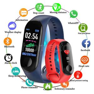 El más barato reloj inteligente pulsera inteligente M3 para el corazón de la banda del monitor del ritmo bluetooth SmartBand aptitud de la salud para Android iOS actividad de seguimiento
