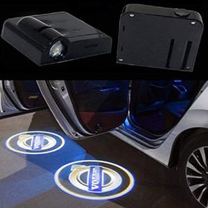 2adet Kablosuz Evrensel LED Araç Kapı Işık Lazer Araba Kapı Gölge Led Projektör Logo Kablosuz Araç Volvo için Kapı Welcome Welcome