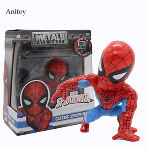 Marvel Spider-Man Classic Spiderman Figure Doll 1 10 Scale Painted Bobble Head PVC Action Figures Collectible Toys 10cm KT4058