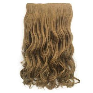 Hot Künstliches Haar Perücke Multi Type Langes Haar volle Perücke Ombre Zwei Ton hitzebeständige synthetische Faser-Perücken Thick Rizos Peluca Neu