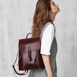 Diseñador-yanxi invierno nuevo diseño de las mujeres mochilas de cuero PU Mujer bolso de escuela para niñas Mochila de hombro grande Capacidad de viajes
