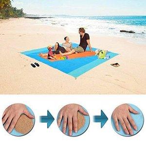 2 Boyutlar Sihirli Sandless Plaj Mat Açık Seyahat Yaz Su geçirmez Plaj Taşınabilir Ultra Dayanıklı Sandfree Kamp Yatakları Blanket