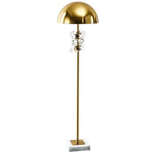 Bola de cristal moderna de mármore cabeceira Floor Lamp Luxury Hotel Home Sala Standing luminária FA049