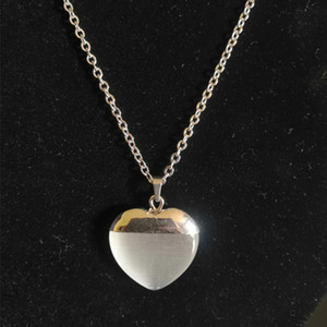 2020 New Opal Crystal White Heart Pendant Necklace For Women And Girls Fashion Jewelry
