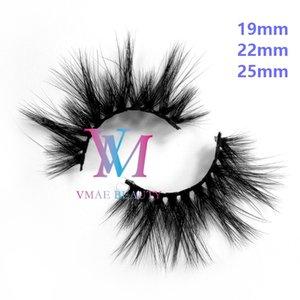 Vmae DHL (64 개) 스타일 19mm의 22mm에서 25mm 3D 5D 시베리아 밍크 헤어 가짜 속눈썹 연장 두꺼운 리얼 밍크 헤어 속눈썹 천연 수제