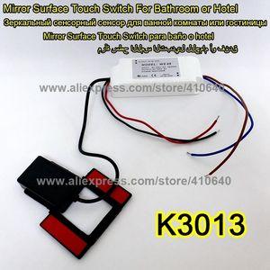 Espejo de luz Interruptor táctil Interruptor de espejo de baño LED Controlador táctil para espejo de muebles Armario Armario Aparador Lámpara