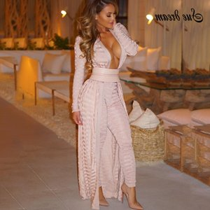 2020 New Women's Runway Elegant Cardigan Belt Long Coat Solid Striped Apricot White Army Green Coat Bodycon Club Party Coat