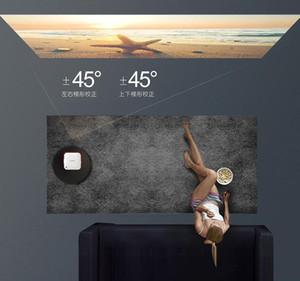 영화를 4K 홈 시어터 TV를 시청하는 소형 프로젝터 홈 미니 휴대용 벽 마운트 휴대 전화 프로젝터 미니 HD 1080P 와이파이 무선