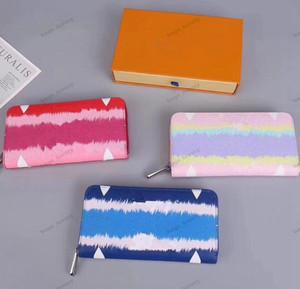 2020 de Moda de Nova Bolsa sem Alça clássico Wallet cartão bolsa Zipper Carteira Moda Praia Feminino Estilo Couro Bolsa Tie-dye saco do telefone
