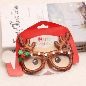 Christmas Glasses Red Snowflake Elk Eyeglass Frame Kid Adult Party Dress Up Toys Family Party Cosplay Christmas Decoration HH9-A2558