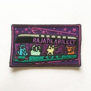 Logo personalizzato di alta qualità ricamato Patch con supporto di tessuto non tessuto per abbigliamento badge zone del ricamo
